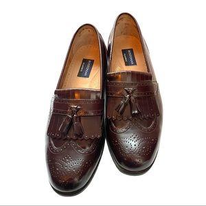 Bostonian Classics Burgundy Leather Dress Shoes 12